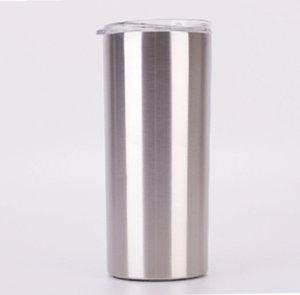 Fedex 15oz sıska Bardak Düz Bardak Klasik izolasyon kapağı ve saman ile soğuk ve sıcak içecekler için contalı