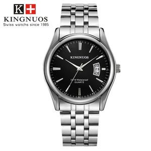 Novo relógio de aço inoxidável top de luxo da moda dos homens designer de quartzo popular relógio esportivo uniforme dos homens relógio Reloj Muje