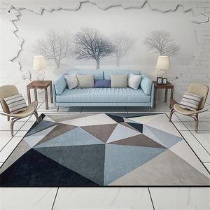 Moderne Triangles géométrique Parlour Salon de décoration Tapis sol Paillasson Tapis de bain Cuisine Tapis gris