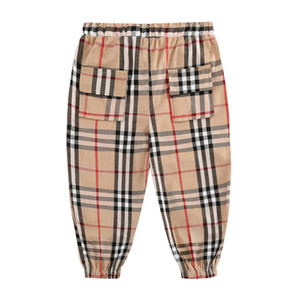 2020 Summer Boy Whole Cotton Looser Tether Leisure Time Lattice Pants Tide Trousers 0201