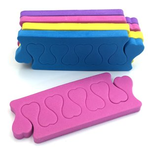 200pcs = 100paris / lot Toe manucure doigts Outils Separators pieds éponge douce Gel UV Salon polonais Outils Pédicure Nail Art F413