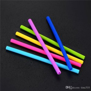 New food grade Straight Silicone drinking straw colorful Silicone straw with straw brush environmental protection silicone tube IA728