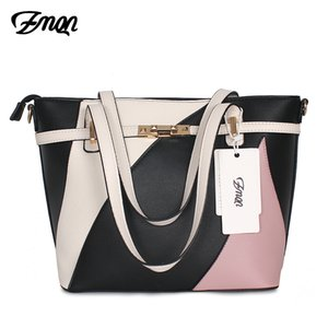 ZMQN Bag Women Patchwork Handbag Women Famous Brands Shoulder Leather Bag For Hand Bags Sac Big Capacity Bolsos Mujer A807