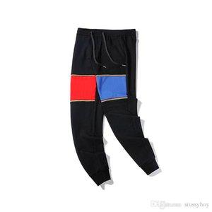 Fashion New Men Designer Pants Casual Men Pants High Quality Cotton Hip Hop Pants Size S-L Black