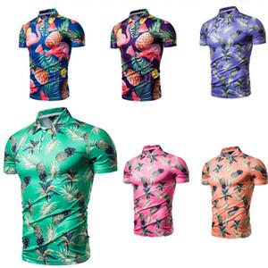 T Shirts Für Männer Neue Designer Tees 3D Gedruckt Ananas Kurzarm 2019 Sommer Top Tees T-shirt Strand Polos Mann Kleidung Mode