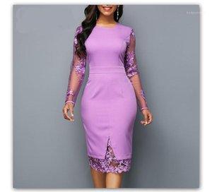 Bodycon платья Sexy кружева с длинным рукавом на молнии платье повелительниц Brief платья Шнурок Щитовые Solid Designer