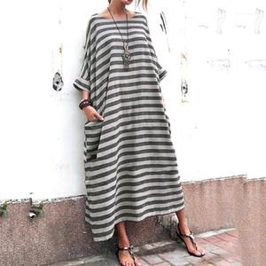 نصب منصة إمرأة مصمم فساتين الأمومة عارضة الإناث زائد حجم الملابس النسائية فساتين عادية موضة الشريط جيوب طباعة