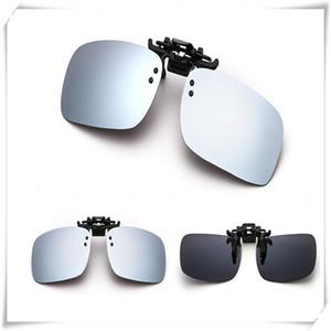 Deporte Gafas de sol gafas de sol polarizadas Día de la visión nocturna gafas de sol de moda de conducción con clip del flip-up lente polarizada Gafas