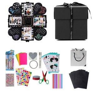 생일 파티 선물 결혼식 발렌타인 데이에 대한 Cyuan 사랑 폭발 상자 DIY 수제 사진 방명록 상자 선물을 부탁