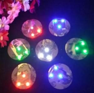 LED Flashing Bottle Coaster Sticker For Bar Night Club Bottle Party Decoration DHL free shipping