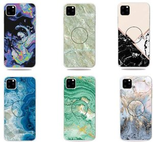 New Marble Phone Case pour iPhone 11 Pro XS MAX XS XR Samsung Note 10 S10 Avec Airbag Phone Holder