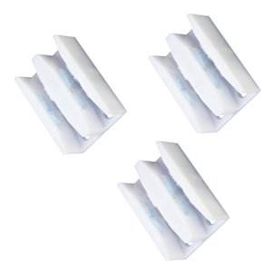 3Pieces Sliding Door Panels Bottom Guide ABS Shower Door Jamb Guide Color White For Dusting Purpose