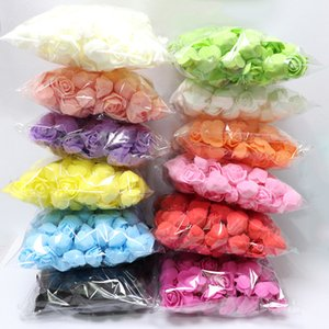 Home & Garden 500Pcs lot These flowers are used to decorate Flores man-made decorative roses head rose bear wedding house artificial flower