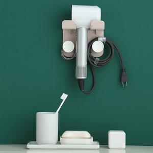 843 Air Blowing Rack Toilet Hair Dryer Storage Rack Wall Hanging Hair Dryer Bracket Storage Rack No Punching