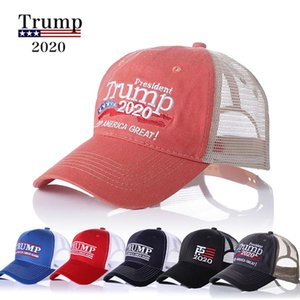 Hot 2020 Donald Trump Election Party Hats President Keep America Great Again USA Embroidery Cap American Flag Cotton Baseball Hat Party