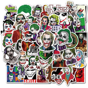 The Joker Stickers Waterproof etiqueta do carro para geladeira bagagem Moto Car Mala Moda Adesivo Laptop 50pcs 1 Opp saco Free Ship