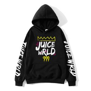 2020 siyah beyaz kırmızı J UICEWrld kapşonlu sweatshirt suyu wrld suyu wrld juicewrld tuzak rap gökkuşağı aksaklık Dünya