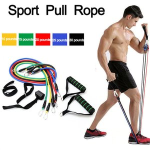 11 18 Pcs Set Pull Rope Fitness Exercises Resistance Bands Latex Tubes Pedal Multi function thruster Excerciser Yoga Band