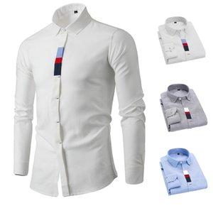 Chemise à manches longues Casual Shirt Slim Casual Tide 60% coton 40% de fibres de polyester pour hommes