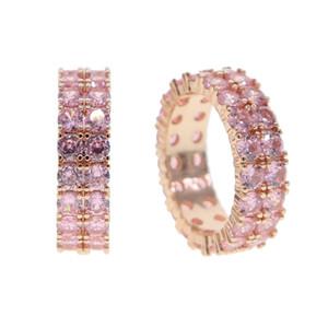 2020 반짝 보헤미안 여성 빅 크리스탈 지르콘 돌 반지 럭셔리 여성을위한 패션 핑크 사랑 약혼 반지 빈티지 웨딩 반지