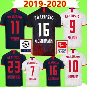 RB LEIPZIG soccer jersey NEW 19 20 Camisolas de Futebol home white away azul WERNER Camiseta FORSBERG Maillot HALSTENBERG SABITZER 2019 2020 Camisas de Futebol Kits Uniformes