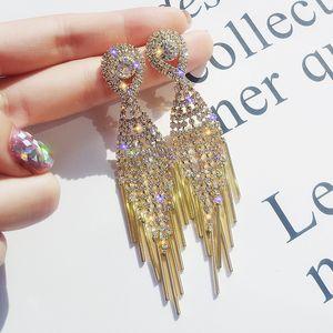 European and American exaggerated fashion designer earrings women's fashion full diamond earrings geometric diversified shape earrings