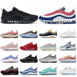 nike air max 97 Hommes des chaussures de course femmes formateurs usa tripler noir blanc rose Aurora Green réfléchissant élevé raisin Neon hommes coureurs sport sneakers