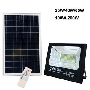 Bahçe Sokak Garage LED Güneş Işık Sel Lambası 25W 40W 60W 100W 200W Spotlight IP66 Beyaz Oto Solar Lamba Açık