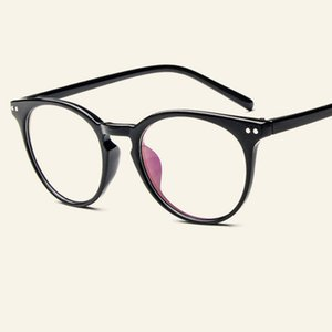 Wholesale- Glasses Frames Women And Men Vintage Round Eyewear Frame Retro Casual Clear Lens Myopia Optical Frames