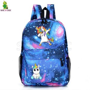 Unicorn Mochilas Adolescente Escola Back Pack Sacos Unicorno Mochila Dos Desenhos Animados Sac Um Dos Galaxy Mochila Unicornio Sacos De Viagem Y19061004