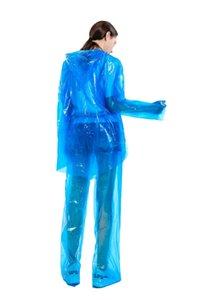 Split Disposable Raincoats PVC One-Time Poncho Ride Motorcycle Rain Coat Overalls Waterproof Rain Pants Suit Protective Cloth GGA3367-8