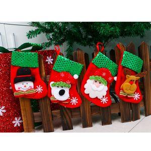 Noël Sock Décoration Père Noël Bonhomme de neige Elk style Ours de Noël Sock Accueil Décoration Party de petite taille Ornement