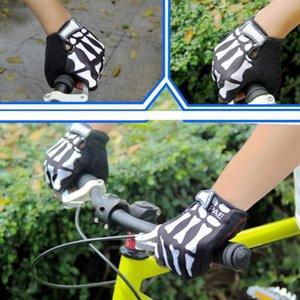 Eldiven Yürüyüş Binme Dağ Bisikleti Ridding Pratik Likra Kumaş Siyah Beyaz Hareket Bisiklet Yarım Parmak Eldiven