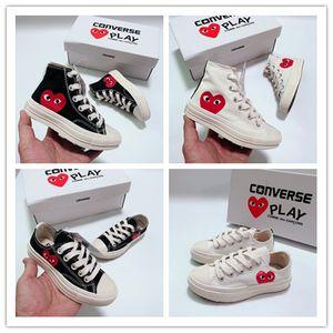 2020 Crianças All-Star 70 Hi C-D-G jogo dos miúdos sapatos para a menina meninos sapatas de lona Branco Preto da criança do bebê Children Sneakers Tamanho 23-35