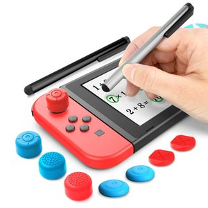 2x Stylus Pen with 6x Removable Analog Silicone Thumb Button Caps Grip for Nintend Switch Lite & NS Switch Controller Cover Kit