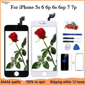 LCD Display For iPhone 6 5 5c 5s SE 7 8 Plus touch Screen Replacement for iPhone 4 4S 6S +Tempered Glass+Tools+TPU Case