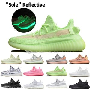 ssYEzZYYEzZYs v2 350boost With Box Fast Delivery Kanye West Clay V2 Static Reflective Glow In The Dark Mens Running Shoes H