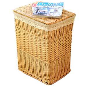 Sundries storage baskets rattan garden fabric wicker hamper basket with lid storage box storage box