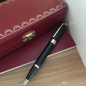 Luxury Pen High Quality Good Design black color Silver Clip ballpoint Pen with a Gift Box