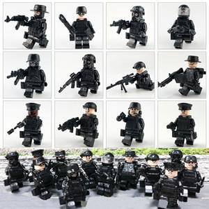 12 Stück Lot Military Special Forces Tactics Sturm Polizei COD SWAT Mini Action-Figur mit Waffen Baustein-Spielzeug für Kinder