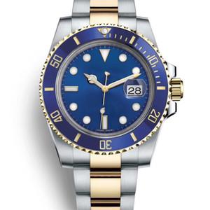 Schwarz blau keramik lünette designer jubiläum armband mechanische automatische gmt männer luxus herrenuhr armbanduhren mode uhren