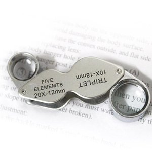 10X - 20X portátil Jóias Rotatable Handheld Lupa Lupa de Leitura Magnifier