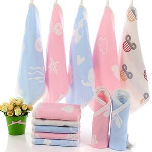 Bébé coton carrés pour bébés serviettes de bain en coton bébé Mouchoir alimentation Serviette de bébé nouveau-né Serviette de bain 25 * 25cm