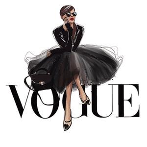 Vogue THERMOSENSIBLE Parches Mode transfert de chaleur fer sur les vêtements Diy Stickers Stripes Patch Thermo autocollants sur les vêtements