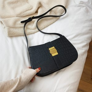 2020 New Ladies Bag Stone Pattern Shoulder Messenger Bag Black Green Small Fashion Casual Mobile Phone Wallet handbags