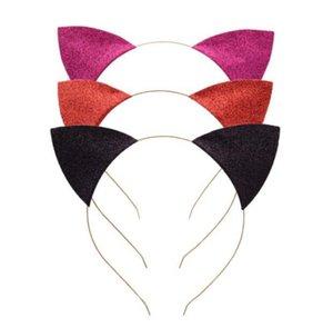 العصي آذان القط العصابة الرضع بريق القط آذان عصابات الشعر المعدنية رئيس هوب المشابك عطلة حفل زفاف الديكور الدعائم GGA3346-5