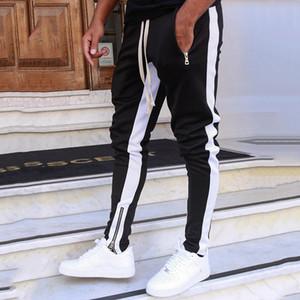 Joggers Mens Streetwear Pantaloni felpa Cerniere elastico Hip Hop Casual Harem matita mutanda stretta Pantaloni a sigaretta Jogger Pants