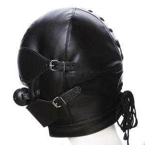 Sex Harness Mouth Sex J10-1-75 Ouvrir Couple Ball Masques adulte PU pour Toy Slave Réglable Gag Qwrll