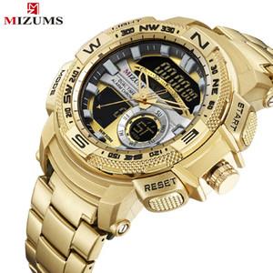 Analogico militare Mizums uomini di sport Quarzo digitale Orologi di lusso di marca maschile orologio da polso da uomo Relogio Dourado Masculino LY191213