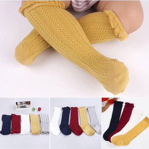 Princess Baby Girls kids Toddler newborn clothes solid casual Knee Tights Cotton Breathable Baby Summer Stockings one pairs